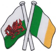 Wales & Ireland Friendship Embroidered Patch A290